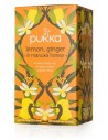 LEMON GINGER & MANUKA HONEY PUKKA 20 bolsitas