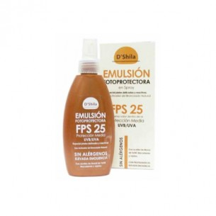 EMULSIÓN PROTECTORA EN SPRAY FPS 25 D´SHILA 200 ml.