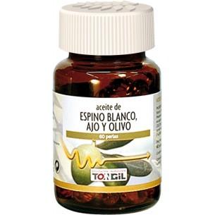 ACEITE DE ESPINO BLANCO, AJO Y OLIVO TONGIL 60 perlas