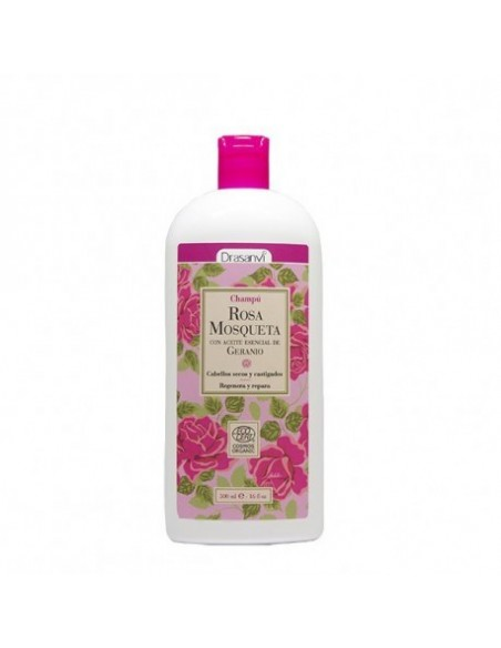 Champú rosa mosqueta Ecocert bio ~ Drasanvi 250 ml ~ Herbolariosnatura