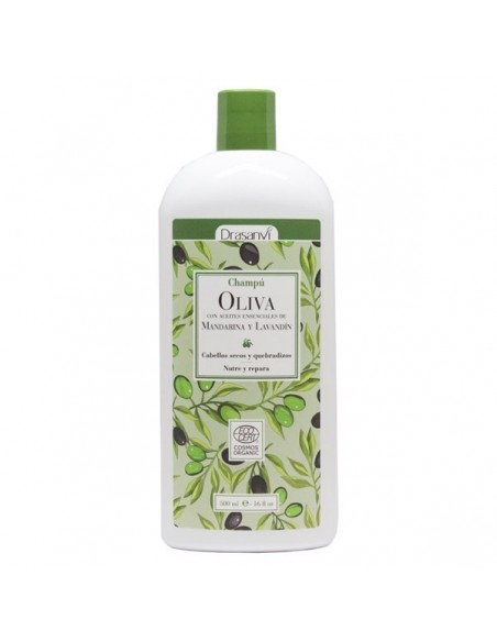 CHAMPÚ ACEITE OLIVA ECOCERT BIO DRASANVI 500 ml. Herbolariosnatura