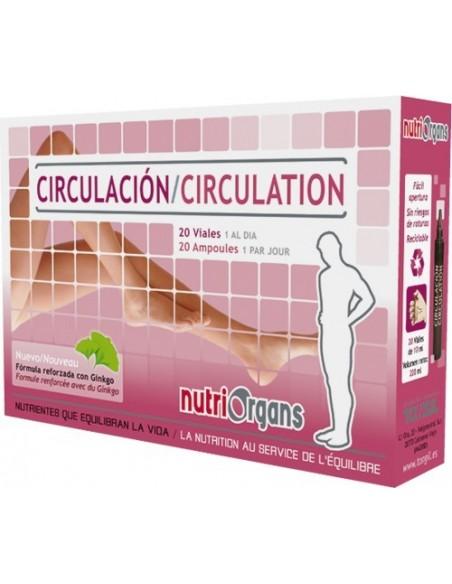 CIRCULACIÓN NUTRIORGANS TONGIL 20 viales 10 ml.