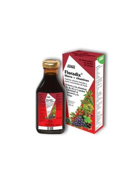 FLORADIX HIERRO + VITAMINAS EN JARABE, SALUS 250 ml.