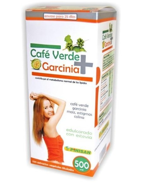 CAFE VERDE + GARCINIA PINISAN 500 ml.
