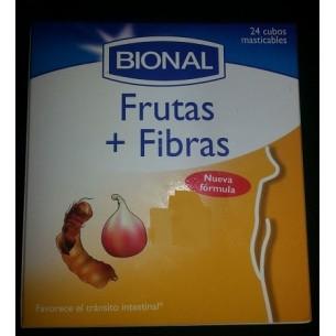 FRUTAS + FIBRAS 24 cubos masticables BIONAL