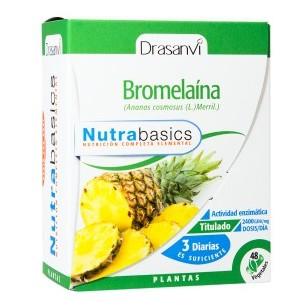 BROMELAÍNA NUTRABASICS 60 cápsulas DRASANVI