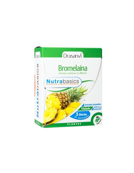 BROMELAÍNA NUTRABASICS DRASANVI 60 cápsulas