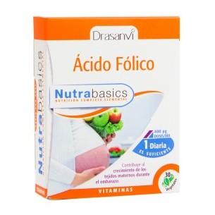 ÁCIDO FÓLICO NUTRABASICS DRASANVI 30 cápsulas