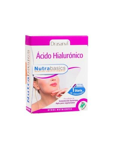 ÁCIDO HIALURÓNICO NUTRABASICS 30 cápsulas DRASANVI