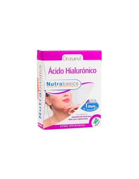 ÁCIDO HIALURÓNICO NUTRABASICS DRASANVI 30 cápsulas