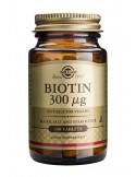 BIOTINA 300 UG SOLGAR 100 comprimidos